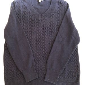 Talbots Navy Cable Knit Sweater